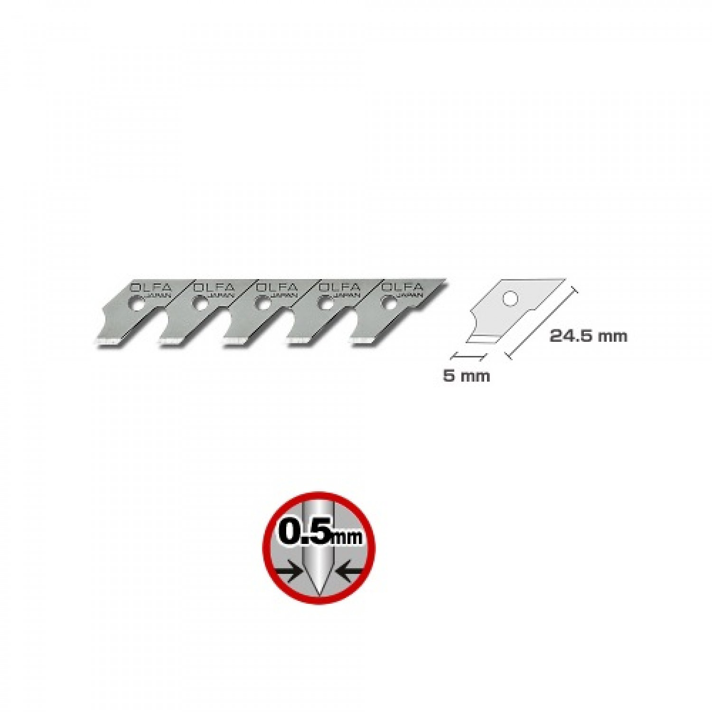 Olfa COB-1 Blade Refill Dimensions