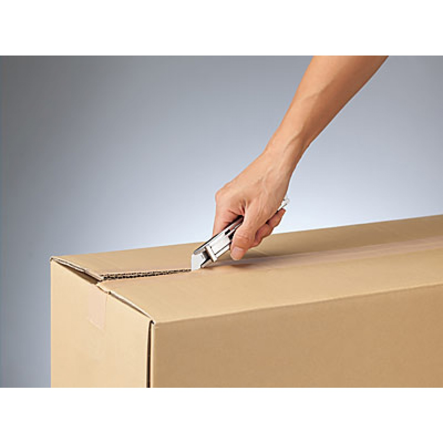 Olfa Stainless Steel Self Retracting Safety Knife (SK-12, 1117956), cutting box