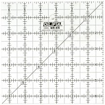 "Olfa QR-6S 6 1/2"" Square Acrylic Ruler Non-Slip, Frosted"