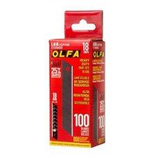 Olfa LBB-CP 100 Contractor UltraSharp Heavy-Duty 18mm Snap-Off Blade - 100/pk