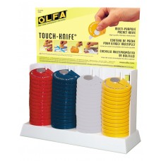 Olfa TK-4/60 Touch Knife Counter Display, 60pc.