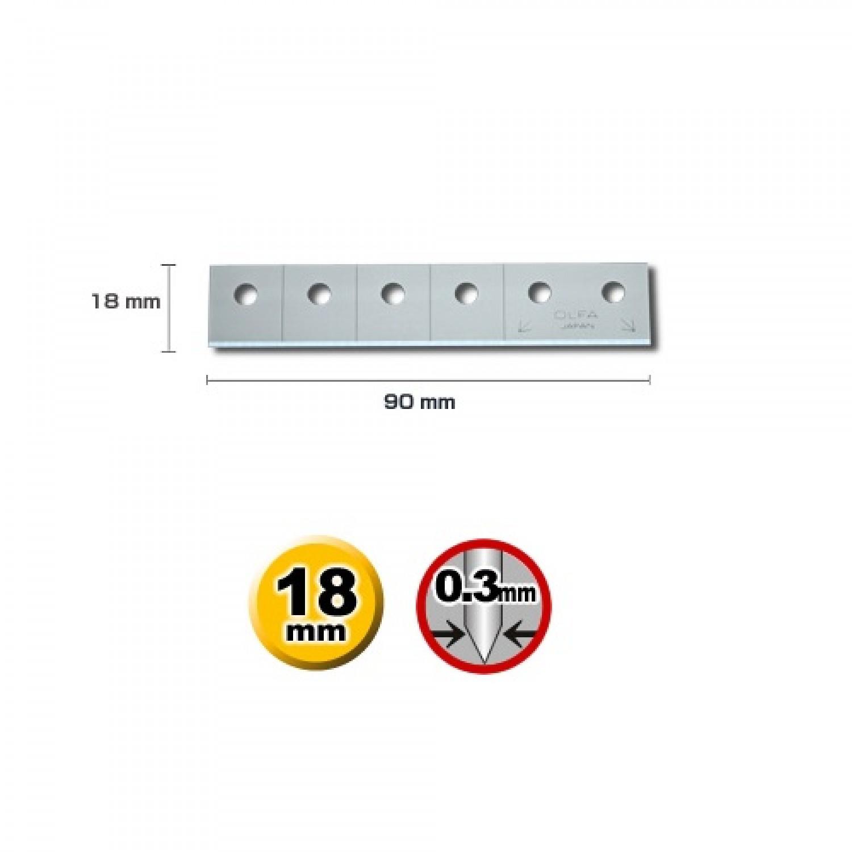Olfa CTB-5 Carton Cutter Blade Dimensions
