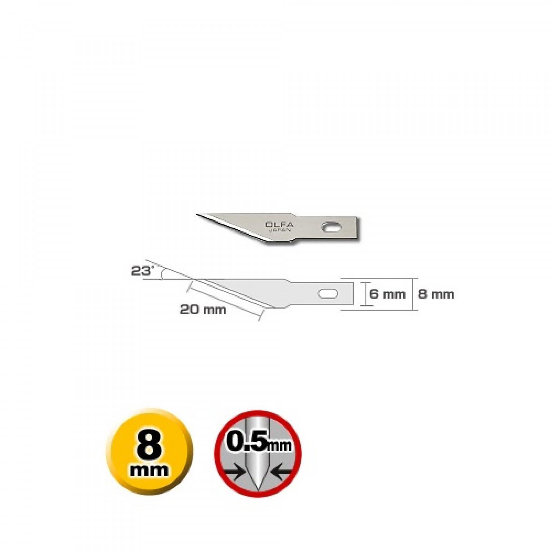 Olfa KB4-S-5 Precision Blade Dimensions