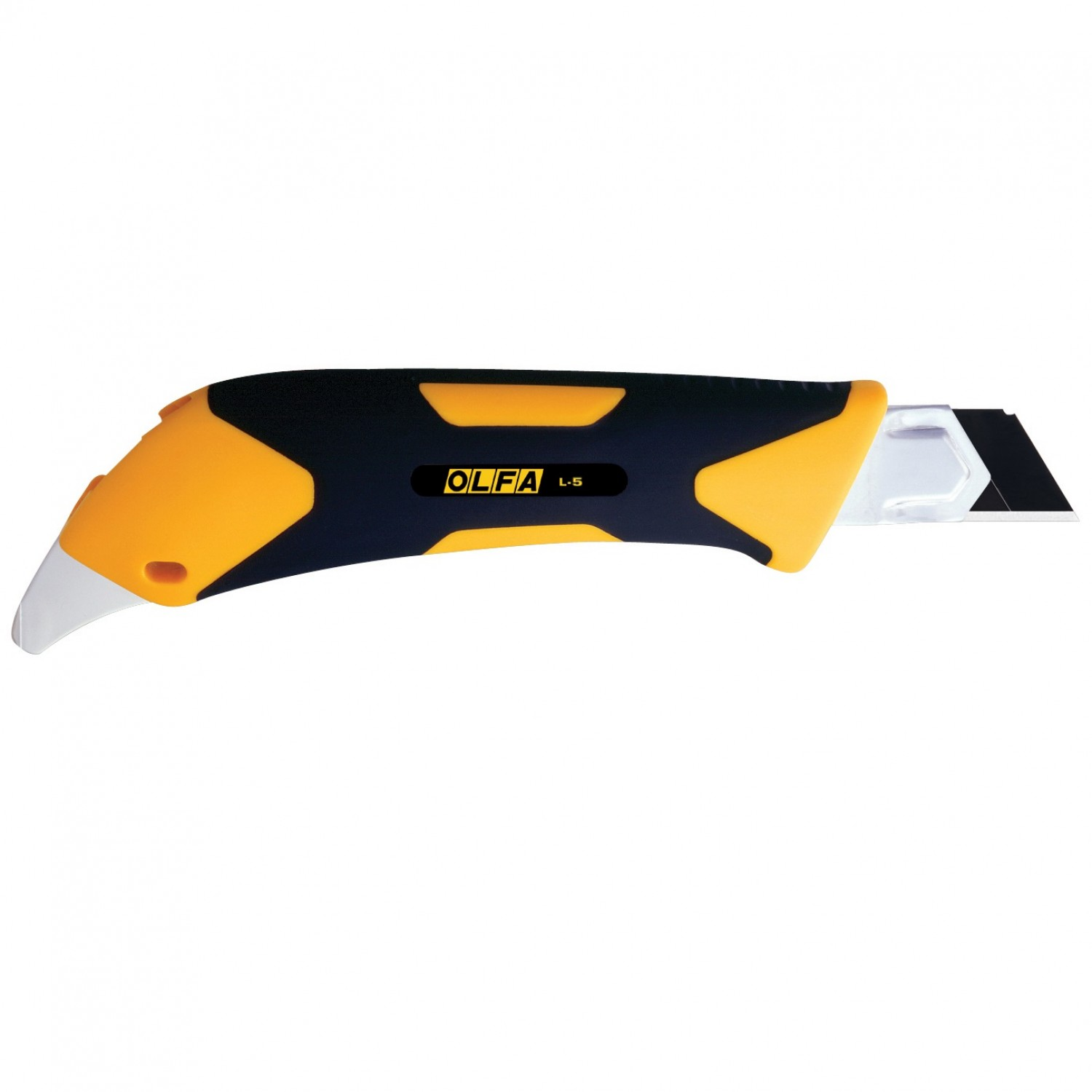 Olfa L-5 Fiberglass Rubber Grip Utility Knife, 18mm Back
