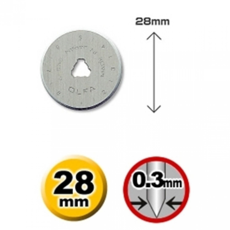 Olfa RB28-10 Rotary Blade 28mm, 10pk