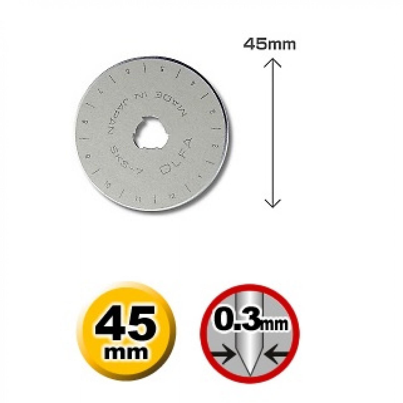 Olfa RB45-5 Rotary Blade Dimensions