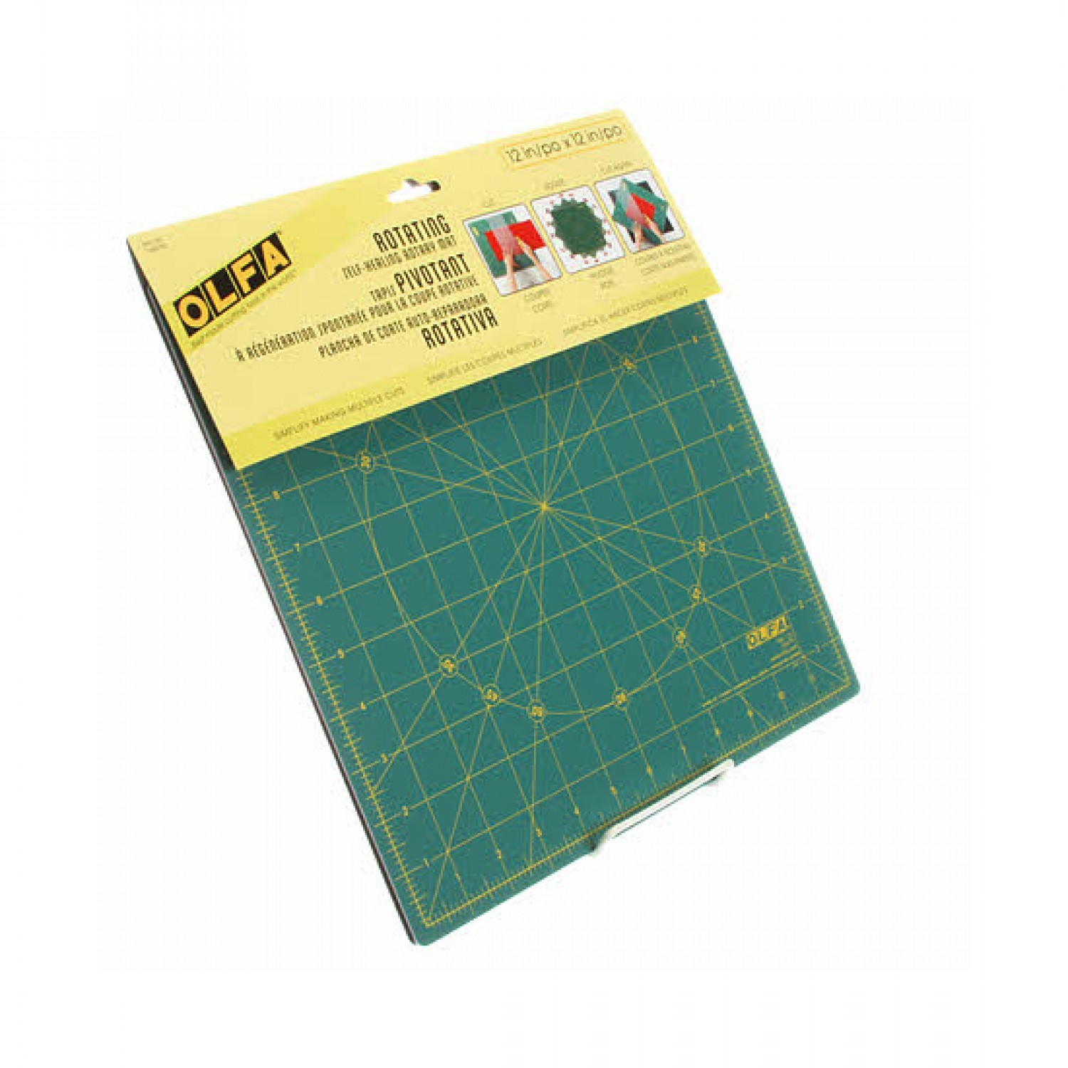"Olfa RM-12S 12"" Square Rotating Cutting Mat Package"