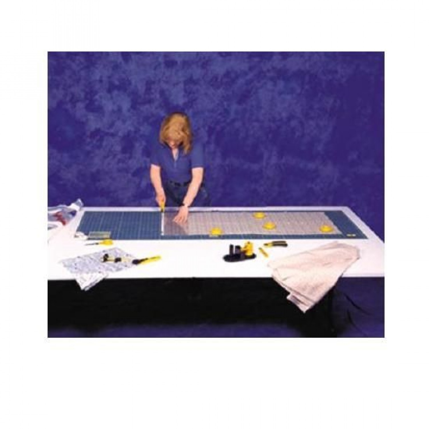 "Olfa RM-CLIPS/2 Continuous Grid Cutting Mat Set 23"" x 70"" Illustration"
