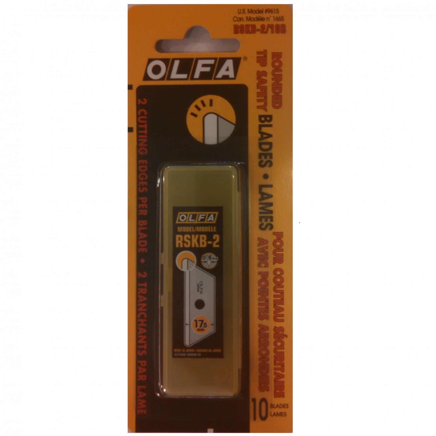 Olfa RSKB-2/10B Rounded Tip Safety Blades