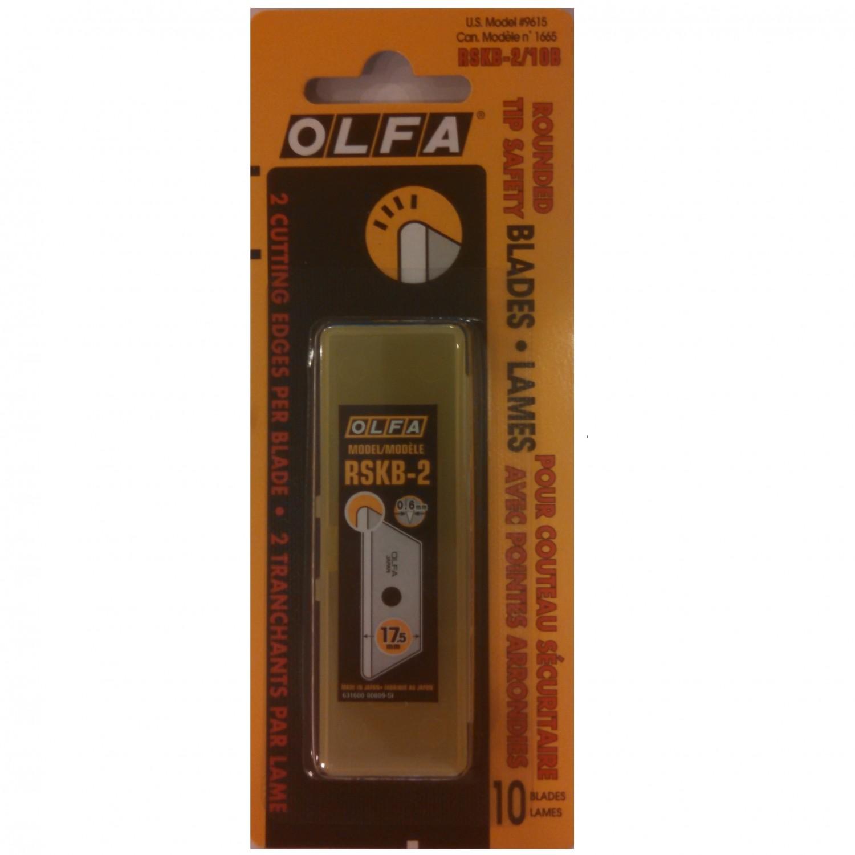 Olfa RSKB-2/10B Rounded Tip Safety Blades