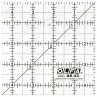 "Olfa QR-4S 4 1/2"" Square Acrylic Ruler Non-Slip, Frosted"